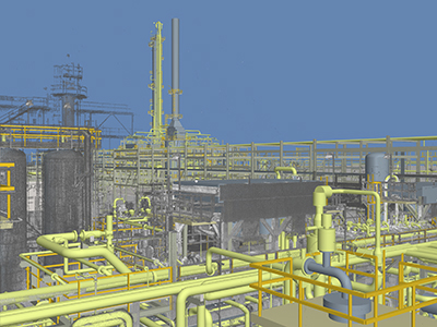 benzene reduction plant,  laser-scanned
