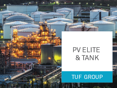 TUF group, Intergraph, PV ELITE, TANK
