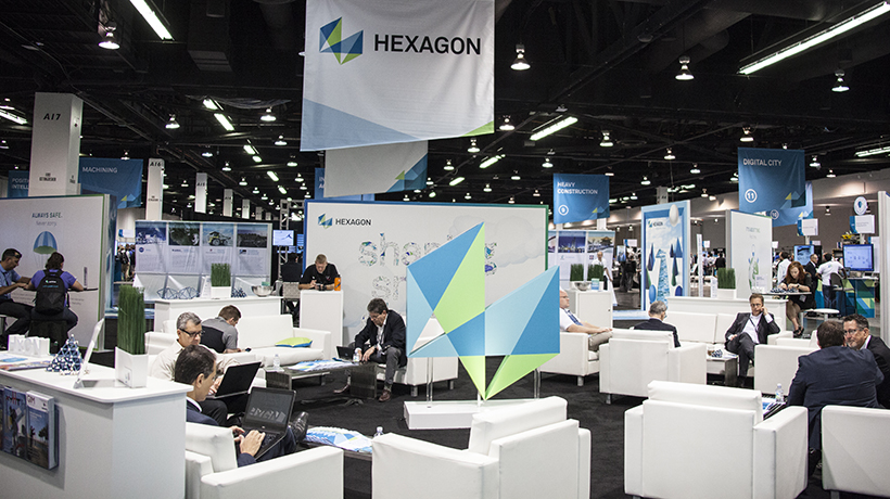The HUB in the Zone, demo floor at HxGN LIVE