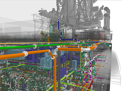 complicated piping arrangement with machinery equipment in the mud process of a drillship in South Korea. Golden Valve Award, Second Place Visually Complex. Samsung Heavy Industries, Korea