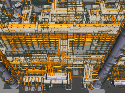 Golden Valve Award Third Place Visually Complex, Linde Engineering India Pvt. Ltd,  large piping network of a complex acid gas recovery unit