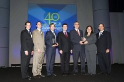 Members of Fluor Corporation, Newmont Mining and Project Management Institute at the PMI 2009 Congress where Fluor received Project of the Year honors.