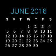June 2016 Golden Valve Desktop Calendar