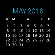 2016 May Golden Valve Calendar