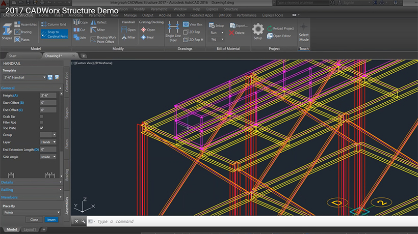 CADWorx Structure, Demo Video, Screenshot