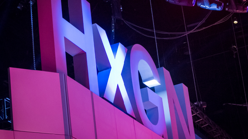 HxGN LIVE letters