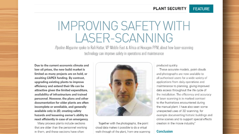 Improving Safety with Laser-Scanning, Pipeline Oil & Gas Magazine Middle East, PPM in the media