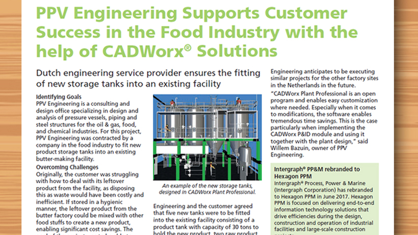 Hexagon PPM, in the news, PPV Engineering, CADWorx Solutions