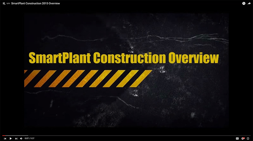 SmartPlant Construction Overview, Video